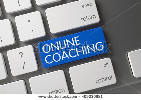 online-coaching-on-blue-key-online-coaching-concept-modern-laptop-409030981