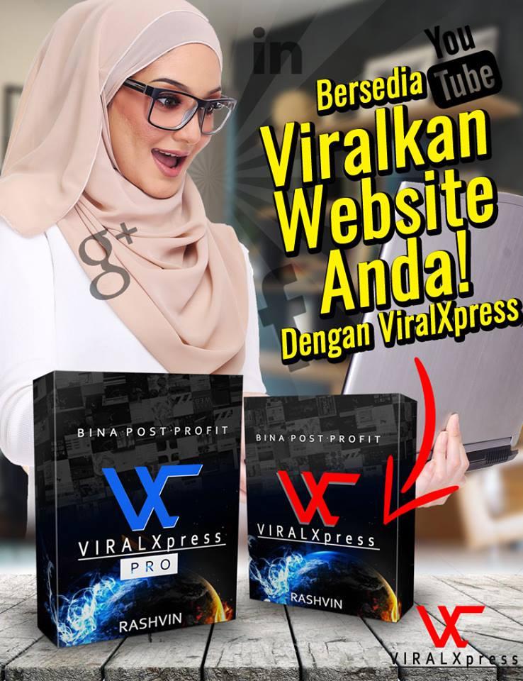 Software ViralXpress ini adalah web based apps untuk bina content di website atau blog anda dengan pantas!